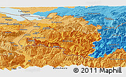 Political Shades Panoramic Map of Vorarlberg