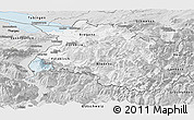 Silver Style Panoramic Map of Vorarlberg