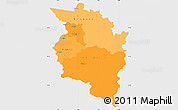 Political Shades Simple Map of Vorarlberg, single color outside