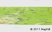 Physical Panoramic Map of Wien