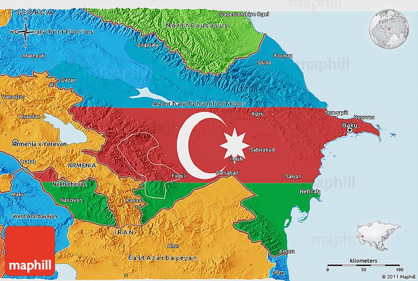 Daxil olunan Azerbaycan xeritesi boyuk formada su00f6zu00fcne esasen mobil axtaru0131u015f sisteminin elde etdiyi u015fekilleri pulsuz...