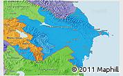Political Shades 3D Map of Azerbaijan