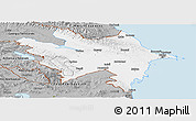 Gray Panoramic Map of Azerbaydzhan Territor