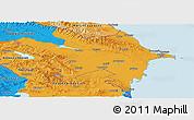 Political Panoramic Map of Azerbaydzhan Territor