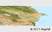 Satellite Panoramic Map of Azerbaydzhan Territor
