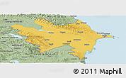 Savanna Style Panoramic Map of Azerbaydzhan Territor