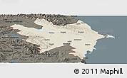 Shaded Relief Panoramic Map of Azerbaydzhan Territor, darken