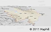 Shaded Relief Panoramic Map of Azerbaydzhan Territor, desaturated