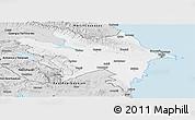 Silver Style Panoramic Map of Azerbaydzhan Territor