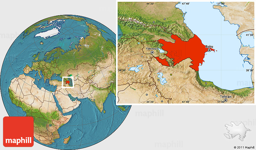 Satellite Location Map of Azerbaijan on bhutan world map, qatar on world map, jordan world map, pakistan world map, israel world map, bahamas world map, sudan world map, palestine world map, oman world map, belarus world map, tonga world map, egypt world map, kuwait world map, netherlands world map, united arab emirates world map, tanzania world map, ukraine world map, burma world map, benin on world map, bahrain world map,
