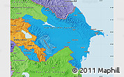 Political Shades Map of Azerbaijan