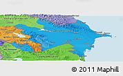 Political Shades Panoramic Map of Azerbaijan