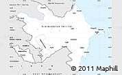 Silver Style Simple Map of Azerbaijan