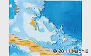Political Shades 3D Map of The Bahamas