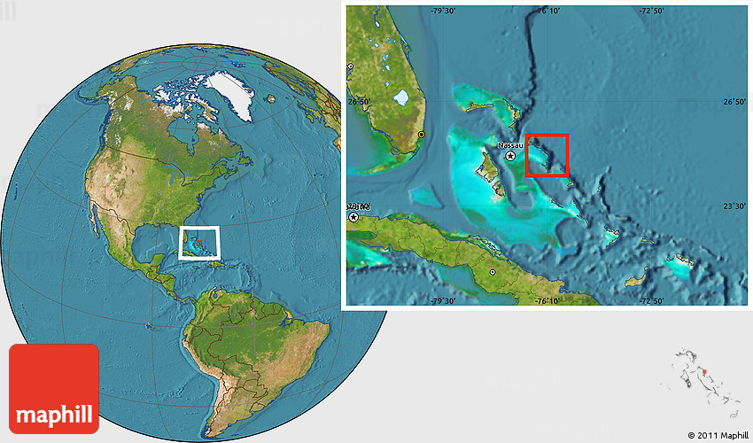 satellite location map of central eleuthera