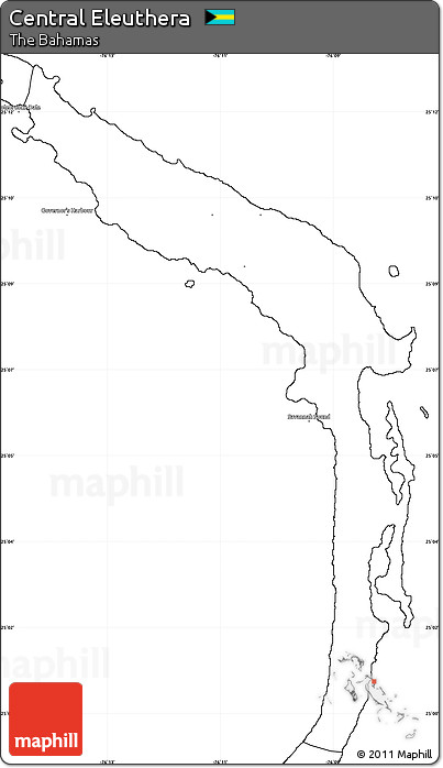 Free Blank Simple Map of Central Eleuthera