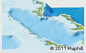 Physical Panoramic Map of Exuma