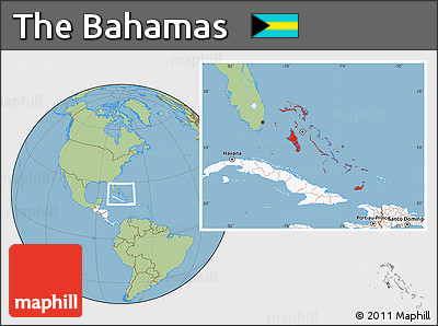 Free Savanna Style Location Map Of The Bahamas Highlighted Continent - Bahamas location map