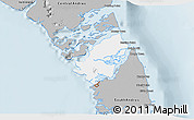 Gray 3D Map of Mangrove Cay