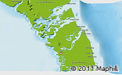 Physical 3D Map of Mangrove Cay