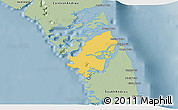 Savanna Style 3D Map of Mangrove Cay