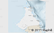 Classic Style 3D Map of North Andros