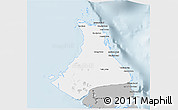 Gray 3D Map of North Andros