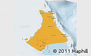Political 3D Map of North Andros, lighten