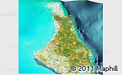 Satellite 3D Map of North Andros