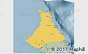 Savanna Style 3D Map of North Andros