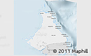 Silver Style 3D Map of North Andros