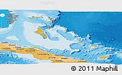 Political Shades Panoramic Map of The Bahamas