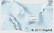 Gray 3D Map of Rum Cay