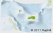 Physical 3D Map of Rum Cay, lighten