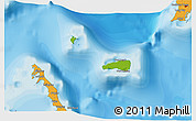 Physical 3D Map of Rum Cay, political outside