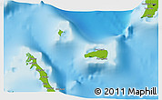 Physical 3D Map of Rum Cay