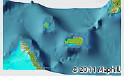 Physical 3D Map of Rum Cay, satellite outside