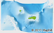 Physical 3D Map of Rum Cay, single color outside
