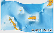 Political 3D Map of Rum Cay