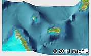 Satellite 3D Map of Rum Cay