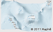 Silver Style 3D Map of Rum Cay