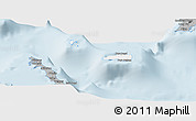 Gray Panoramic Map of Rum Cay