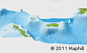 Physical Panoramic Map of Rum Cay
