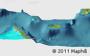 Satellite Panoramic Map of Rum Cay