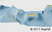Savanna Style Panoramic Map of Rum Cay