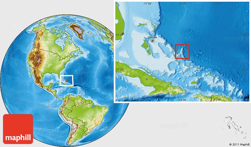 physical location map of san salvador