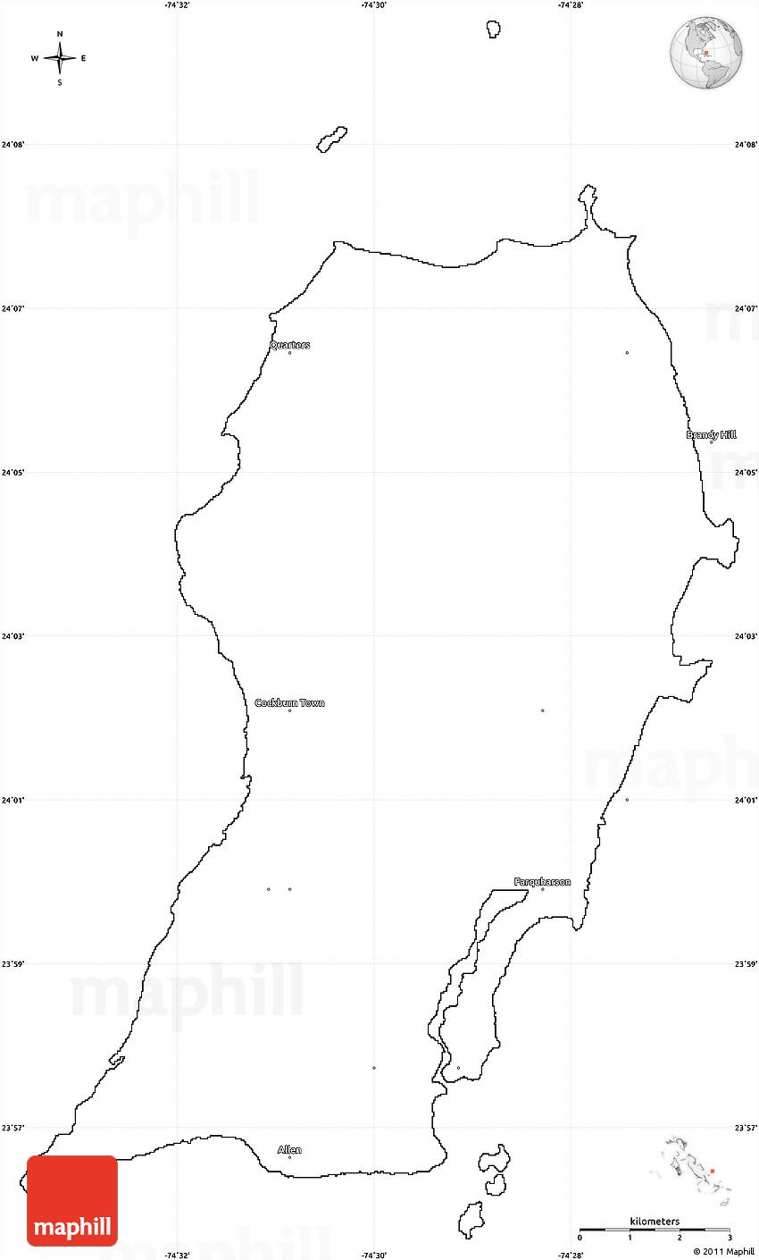 Blank Simple Map of San Salvador