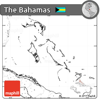 Free Blank Simple Map of the Bahamas no labels
