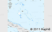 Silver Style Simple Map of The Bahamas