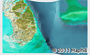 Satellite 3D Map of South Andros